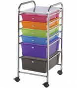 Blue Hills Storage Cart with Multi-Coloured Drawers