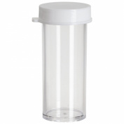 Bel-Art 175750003 Polystyrene 3 Dram Scienceware Vial, with Snap Cap