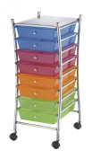 Darice 2026-102 Rolling Storage Trolley with 8-Tier