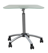 Studio Designs Vision Mobile Cart in Silver with Frosted Glass 403529