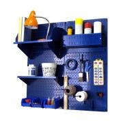 Wall Control Pegboard Hobby Craft Pegboard Organiser Storage Kit - Blue