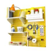 Wall Control Pegboard Hobby Craft Pegboard Organiser Storage Kit - Yellow