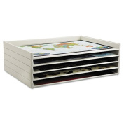 Safco Giant Stack Flat File Trays, 45-1/4w x 34d x 3h, White