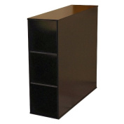 Project Centre 3 Bin Open Storage Cabinet in Black Finish