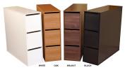 Project Centre Open Storage Cabinet w 3 Bins in Dark Walnut Finish