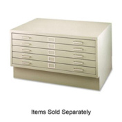 Safco Five-Drawer Steel Flat File