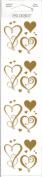 Gold Swirly Hearts Scrapbook Stickers
