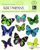 K & Company Vellum Butterfly Stickers, Lily Ashbury Indigo Garden