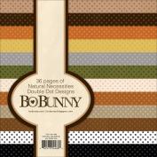 BoBunny Double Dot Paper Pad 15cm x 15cm 36/Pkg-Natural Necessities