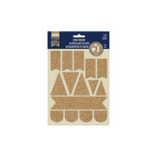 Naturals Collection - Cork Stickers - Flags by Little Yellow Bicycle