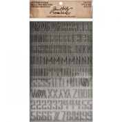Tim Holtz Idea-ology TH93090 114 Letter and Number Decorative Type Industrious Stickers, Metallic