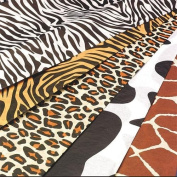 Animal Print Tissue Paper - Zebra, Tiger, Cheetah, Cowhide, Giraffe - By Hygloss