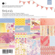 BasicGrey Soleil Paper Pad for Scrapbooking, 15cm by 15cm