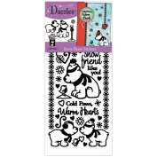 Dazzles Stickers -Snow Bears Black
