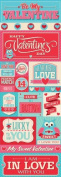 Reminisce With Love Valentine's Day Graphic Scrapbook Sticker