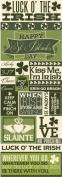 Reminisce St. Patrick's Day Graphic Scrapbook Sticker Sheet