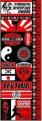 Signature Series Cardstock Combo Sticker 11cm x 30cm -Martial Arts