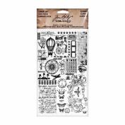 Elements Remnant Rubs by Tim Holtz Idea-ology, 13cm x 18cm , 2 Sheets, Black/White, TH93057