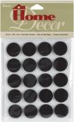 Adhesive Felt Studs Round 19mmX2mm 20/Pkg-Black