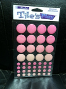 New Sticko Tiles Play Stickers Pink Circle Mosaic