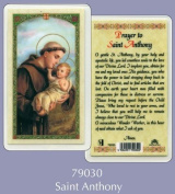 Rosarybeads4u Prayer Verse Card Laminated St Saint Anthony