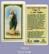Rosarybeads4u Prayer Verse Card Laminated Saint St Jude