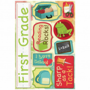 School Cardstock Stickers 14cm x 23cm -First Grade