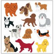 SandyLion Classpak Stickers 3/Pkg-Dogs