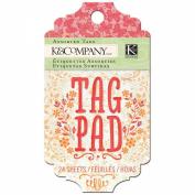 K & Company Tag Pad, Handmade