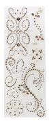 K & Company Adhesive Gem Stickers, Rose Swirl