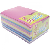 Foam-Sheets 14cm -by-22cm 50-Pack, Bright Colours