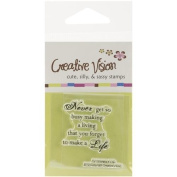 Clear Stamps 5.1cm x 5.1cm -Make A Life