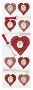 Martha Stewart Crafts Glitter Heart And Key Stickers