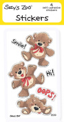 "Suzy's Zoo Stickers 4-pack, ""Smile, Hi, Oops Bear"" 10121"