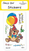 "Suzy's Zoo Stickers 4-pack, ""Happy Birthday"" 10126"