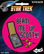 Star Trek - Beam Me Up Scotty Die Cut Vinyl Sticker Decal