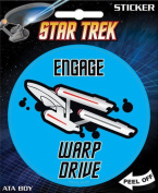 Star Trek - Engage Warp Drive Die Cut Vinyl Sticker Decal
