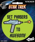 Star Trek - Set Phasers to Awesome Die Cut Vinyl Sticker Decal