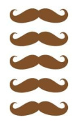 5.1cm Moustache Vinyl Decal Sticker Set - 5 Pack