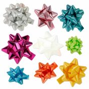 30pc Designer Bright Coloured Gift Bow Assortment - Elegant Metallic, Iridescent, Holographic, Glitter, Lacquer Finishes