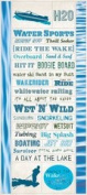 Creative Imaginations - Art Warehouse by Danelle Johnson - Active Summer Collection - Cardstock Stickers - Water Sports
