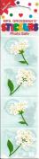 Snowball Flower Scrapbook Stickers