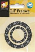 Silver Swirl Frame Lil' Frames for Scrapbooking