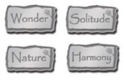 Nature Words Silver Lil' Charms for Scrapbooking