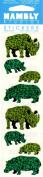 Hippo Rhinoceros Rhino Sparkle Scrapbook Stickers