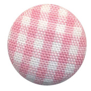 Hot Off The Press - Pink Plaid Fabric Brads