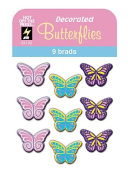 Hot Off The Press - Decorated Butterflies Brads