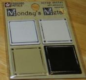 Neutral Squares Monday's Metals Scrapbook Stickers