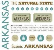 Arkansas Stickers USA // SRM Stickers