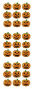 Micro Jack-o-lantern Sparkle Epoxy Scrapbook Stickers